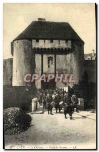 Old Postcard Caen Le Chateau Gate Relief Army Soldiers