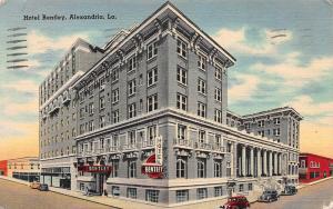 Hotel Bentley, Alexandria, Louisiana, Linen Postcard, Used, WWII Soldier's Mail