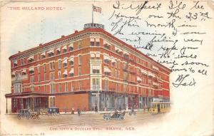 C98/ Omaha Nebraska Ne Postcard 1907 The Millard Hotel Trolley 18 Douglas Sts