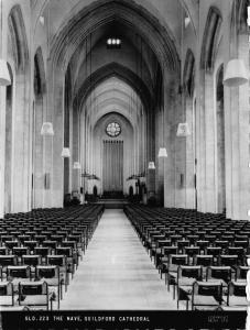 Postcard c1960 REAL PHOTO The Nave Guildford Cathedral by F. Frith & Co. Ltd