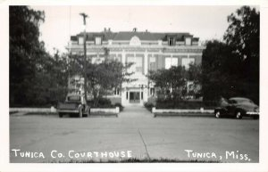 LPSS10 Tunica Mississippi Tunica County Court House Postcard RPPC