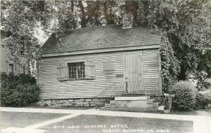 Marietta~Real Photo Postcard~Oldest Building in Ohio~Land Company Office c1950