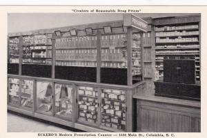 COLUMBIA , South Carolina, 1930s; Eckered's Modern Prescription Center