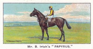 Papyrus Winners On The Turf 1923 Derby Horse Racing Cigarette Card