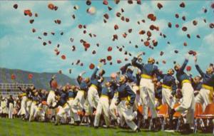 Colorado Colorado Springs Cadets Hat Tossing U S Air Force Academy