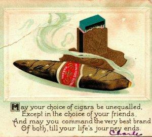 Publicité Non Plus Ultra Havane Cigares Habana - BB London Séries 1912 Postale