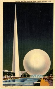 NY - New York World's Fair, 1939. Trylon & Perisphere