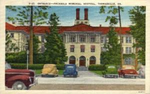 Entrance to Archbold Memorial Hospital Thomasville GA Unused