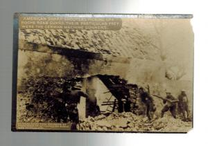 Mint WW 1 US Army Soldiers RPPC Postcard Snipers Shooting at German Army
