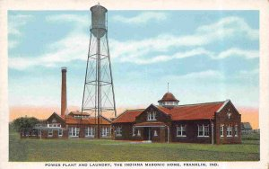 Power Plant Laundry Indiana Masonic Home Franklin Indiana 1930s postcard