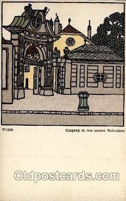Artist Schwetz Card 299 Wiener Werkstaette Wien Unused very close to mint con...