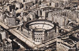 RP; BARCELONA, Cataluna, Spain; Plaza de Toros Monumneto desde el aire, 30-50s