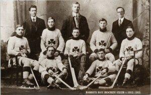 Barry's Bay Hockey Club 1912-13 Team Ontario ON RPPC Canadian Co Postcard G38