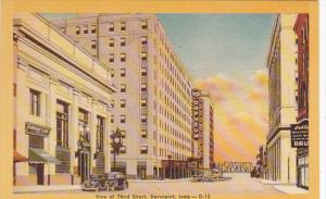 View Of Third Street Davenport Iowa