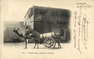 CPA Djibouti Afrique - Chameau porteur d'eau (86985)