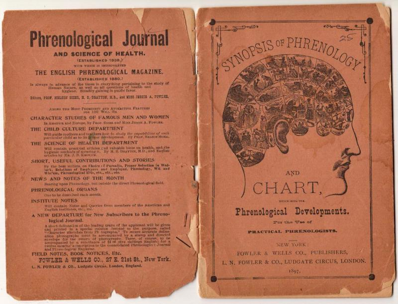 Synopsis of Phrenology & Chart 1897