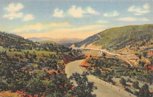 Raton New Mexico~New Raton Pass Highway~Scenic View~1940s Linen Postcard