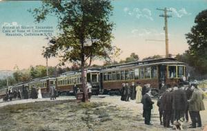 GOFFSTOWN , New Hampshire, 1900-10s ; Uncanoonuc, 16 trolley cars