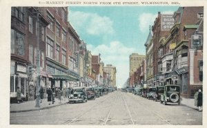 WILMINGTON , Delaware , 1900-10s; Market Street North from 6th St., Store Fronts