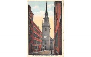 Christ Chruch Boston, Massachusetts Postcard