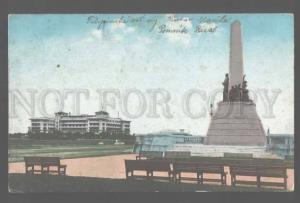 106221 Philippines MANILA Rizal Monument Luneta Vintage PC