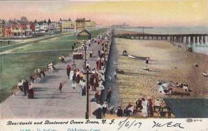 Boardwalk and Boulevard, Ocean Grove, New Jersey, PU-1907