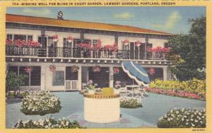 Wishing Well For Blind In Court Garden, Lambert Gardens, Portland, Oregan, 30...