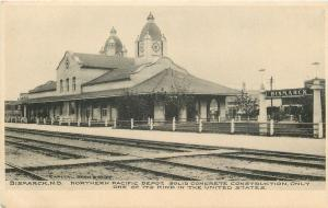 Bismarck North Dakota~Northern Pacific Railroad Depot~Concrete~1905 Albertype