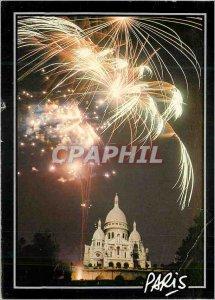 Modern Postcard Paris Sacre Coeur