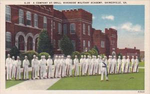 Georgia Gainesville A Company At Drill Riverside Military Academy