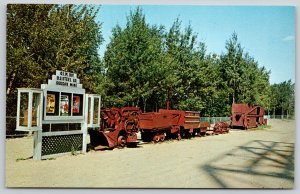 Soudan Minnesota~Tower State Park~Mining Equipment on Display~1950s Postcard