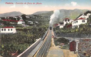 Portugal Old Vintage Antique Post Card Caminho de Ferro do Monte Madeira Unused