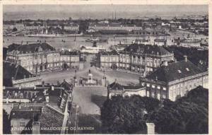 Amalienborg Og Havnen, Kobenhavn, Denmark, 1910-1920s