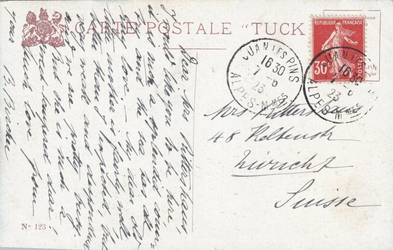 MENTON, France, PU-1923; Cap Martin; TUCK #123