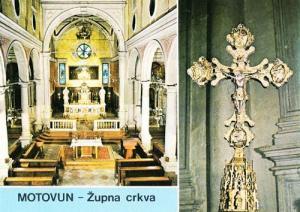 Motovun Zupna Orkva Cross Crkve Croatia Postcard