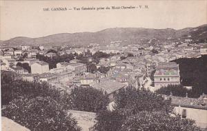 CANNES, Alpes Maritimes, France, 1900-1910's; Vue Generale Prise Du Mont-Chev...