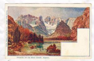 Duren-See mit dem Mpnte Cristallo. Ampezzo. Italy , 1890s