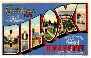 Mississippi Biloxi  LARGE LETTER