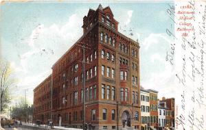 Baltimore Medical College Baltimore Maryland 1906 postcard