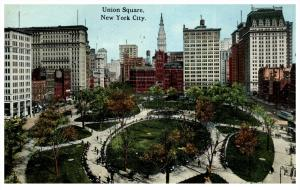New York City    Aerial view of Union Square