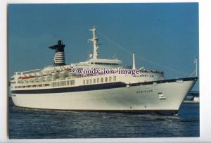 LN0646 - Celebrity Cruises Liner - Meridian , built 1963 ex Galileo - postcard