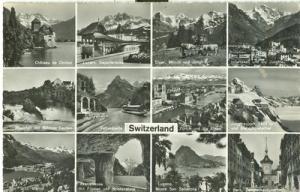 Switzerland, Suisse, Multi view, unused Real Photo Postcard