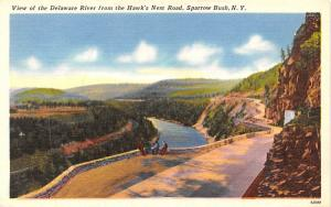 Delaware River Sparrowbush, New York Postcard