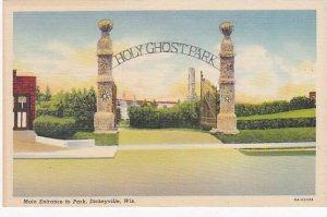 Wisconsin Dickeyville Main Entrance To Park Curteich