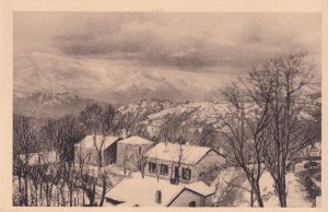Michelet Algeria Sons La Neige Winter Antique Aerial Postcard