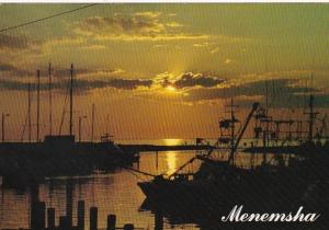 Massachusetts Martha's Vineyard Menemsha Harbor Sunset 1989
