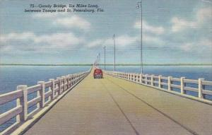 Florida Saint Petersburg Gandy Bridge Six Miles Long Between Tampa And Saint ...