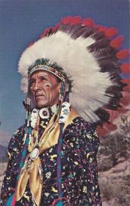 Indian Chief in full Regalia , 40-60s