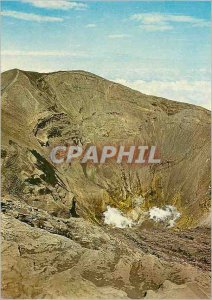 Modern Postcard Crater of the Irazu Volcano in the province of Cartago Costa ...