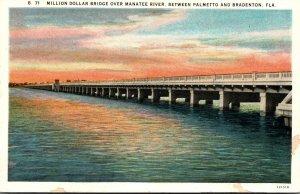 Florida Bradenton Million Dollar Bridge Over Manatee River